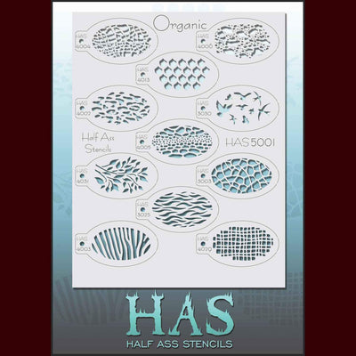 Organic and animal pattern stencil set