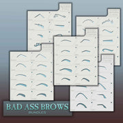 Eyebrow stencil sheets of 10