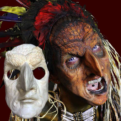 Bird man costume mask with beak