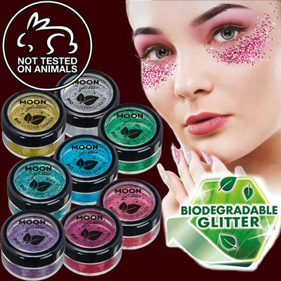 Biodegradable fine cosmetic glitter