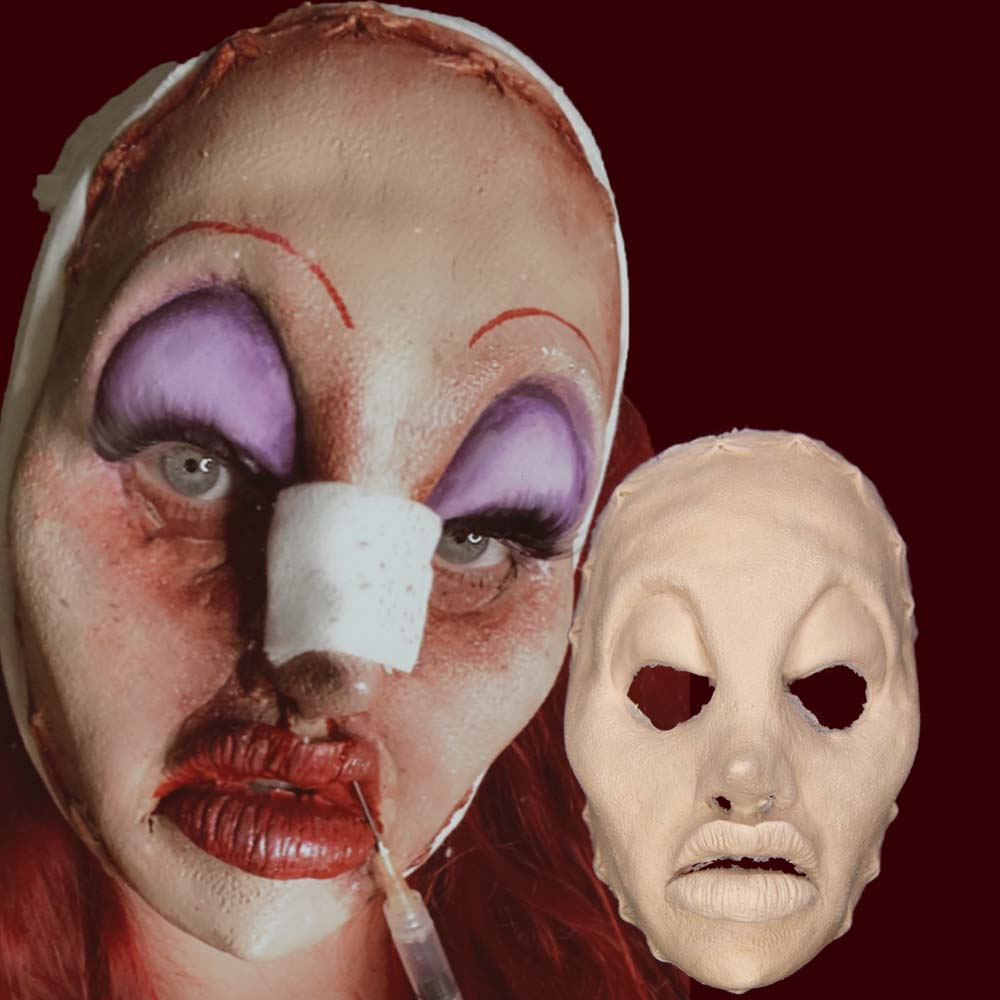 Plastic surgery gone wrong mask