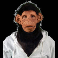 Costume fur neck with chimp mask