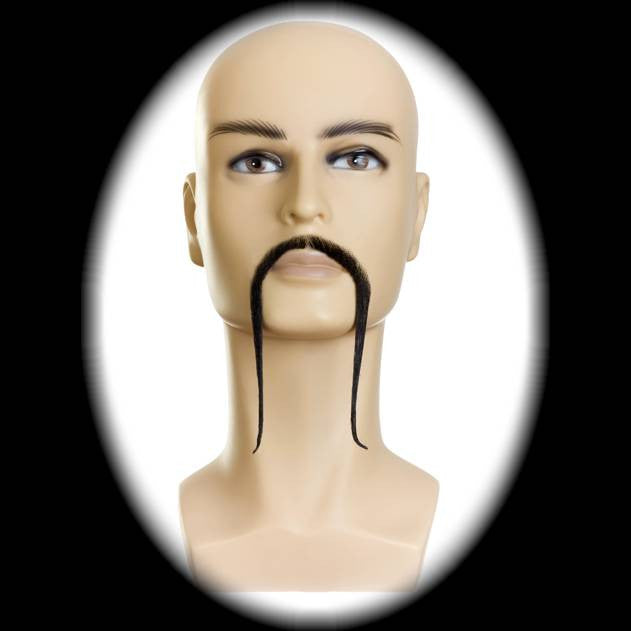 long thin black mustache