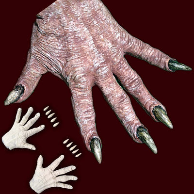 foam latex hand covers, fx makeup