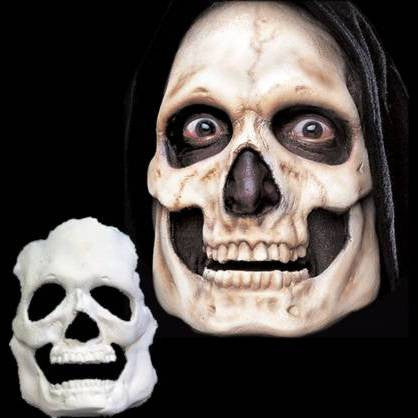 skull halloween full face latex mask