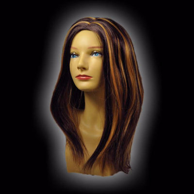Dark Brown with Blonde Highlights Wig
