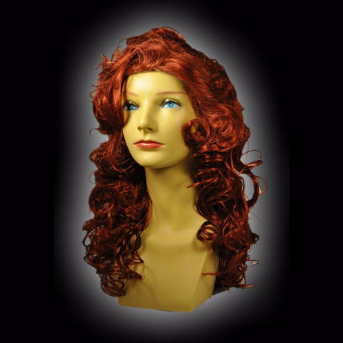 Auburn Long Curly Gypsey Wig