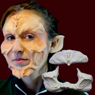 Demon or alien costume makeup prosthetic