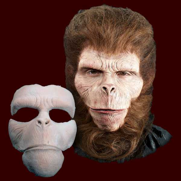 Chimp monkey ape mask makeup FX halloween