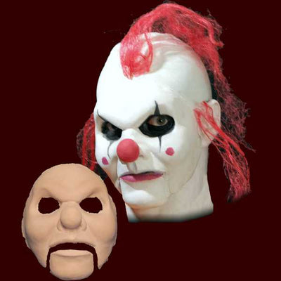 clown puppet halloween latex mask appliance