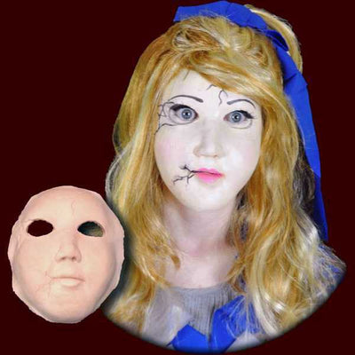 Porcelain doll halloween mask
