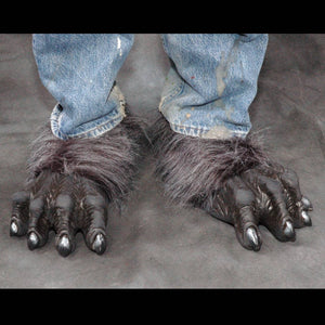 Grey Costume Werewolf Feet