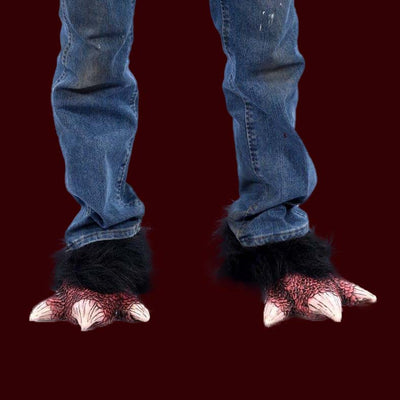 Bird or reptile costume feet