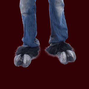 Black hoof costume feet