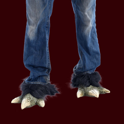 Green dragon claw costume feet