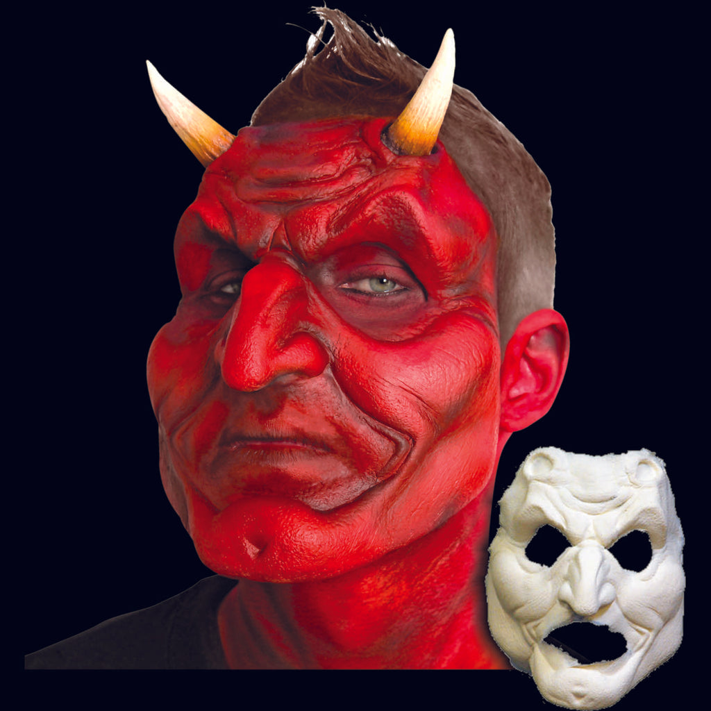 Devil prosthetic mask with horns