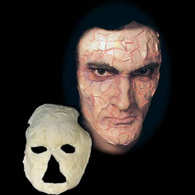 shattered full face halloween latex mask
