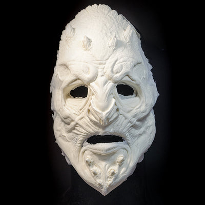 Wood stone demon prosthetic mask