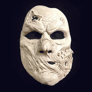 Melting rotting skinned face prosthetic costume mask