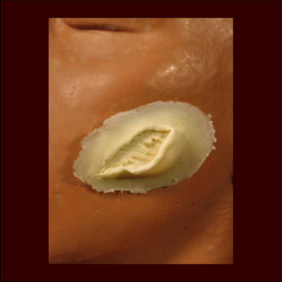 small skin gouge wound makeup appliance