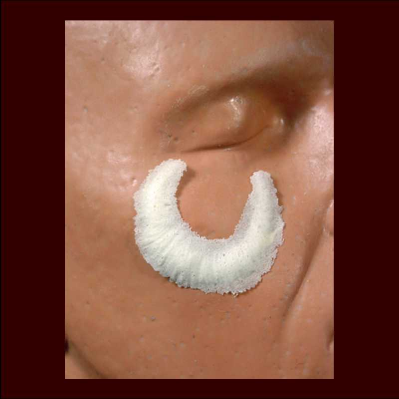 small crescent scar halloween makeup appliance