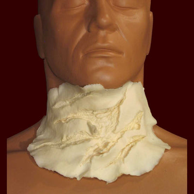 Ripped and torn throat prosthetic