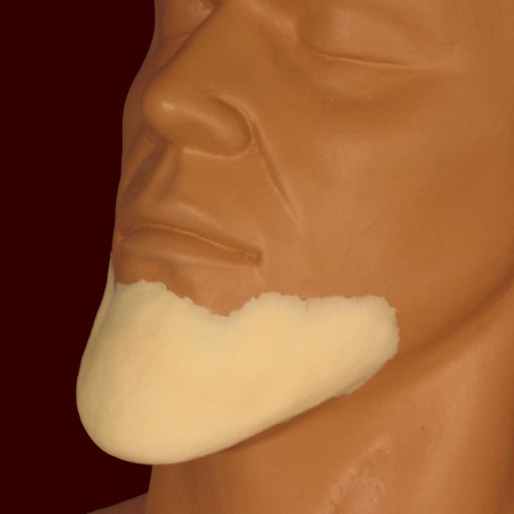 Long pointed chin appliance FX makeup