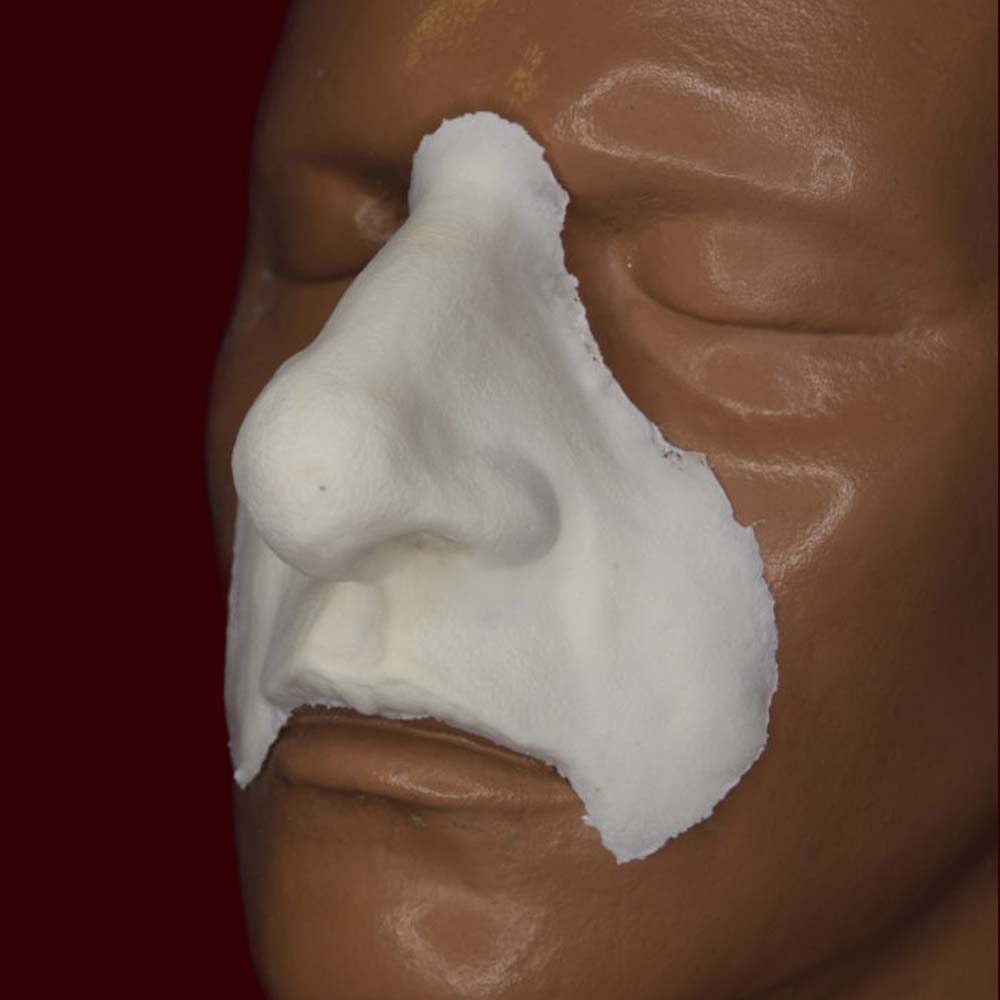 bulbous nose and lip costume prosthetic