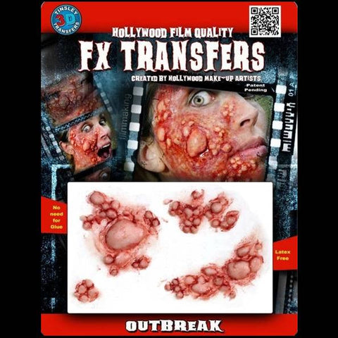 Diseased skin outbreak FX transfers makeup