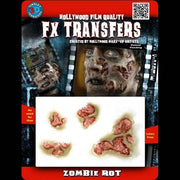 Rotten zombie flesh FX makeup transfers