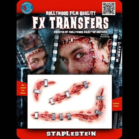 Frankenstein staple stitches FX makeup