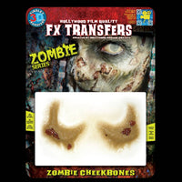 Zombie cheek bones special effects makeup transfers