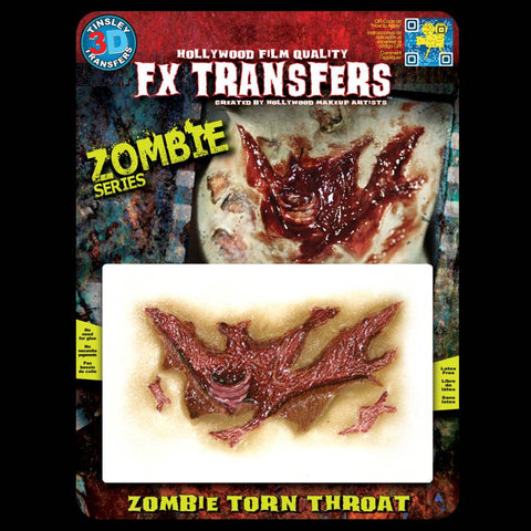 Rotting torn throat FX makeup transfer