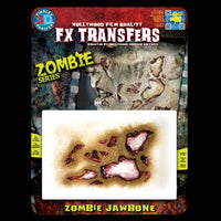 Zombie jaw bone FX makeup transfer