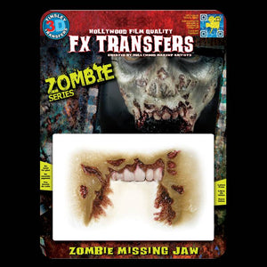 Missing jaw zombie makeup effects 3D transfer