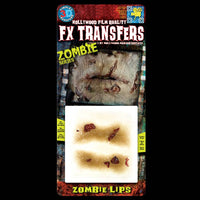 Rotting zombie lips special effects makeup transfers