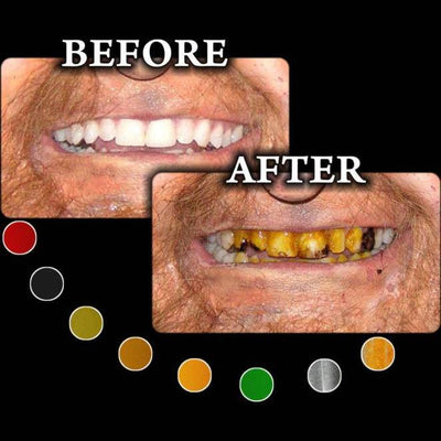 tooth and nail teeth halloween makeup paint
