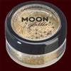 Gold holographic fine cosmetic glitter