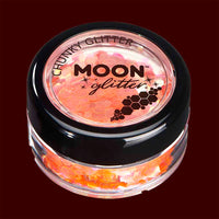 Orange iridescent chunky face and body glitter
