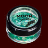 Green iridescent chunky face and body glitter