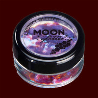 Purple iridescent chunky face and body glitter