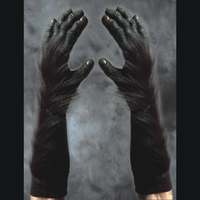 Gorilla costume hands gloves