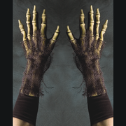 Zombie skeleton glove hands