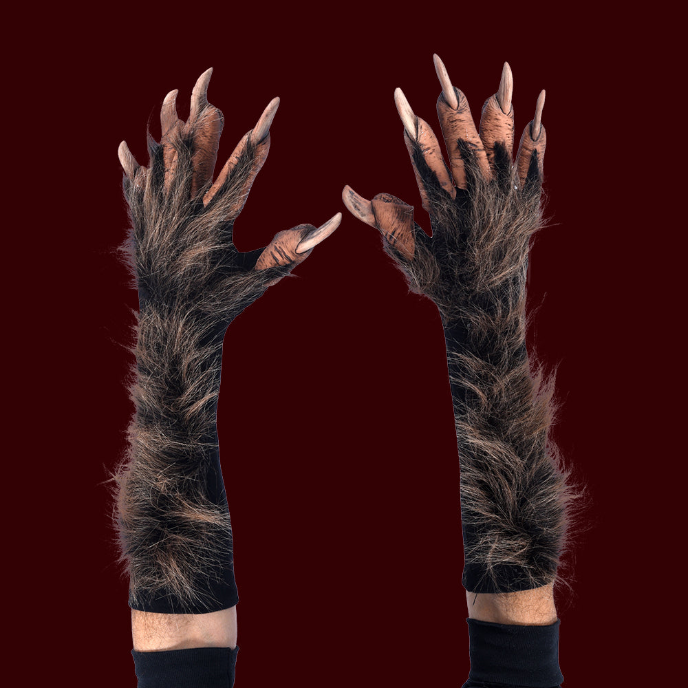 Werewolf or beast hands costume gloves