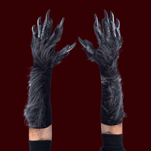 Killer Werewolf Gloves in Grey