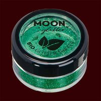 green biodegradable fine cosmetic glitter