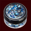 Frozen mixed color chunky cosmetic glitter