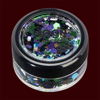 Galaxy mixed color chunky cosmetic glitter