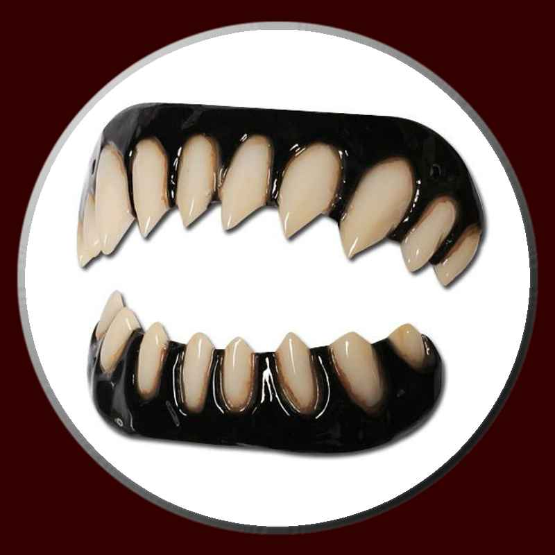 Gaul Halloween costume teeth with black gums