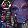 Neon UV body makeup crayons